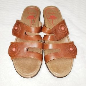 Dansko Dixie Brown Full Grain Sandal Eur 40 US 10